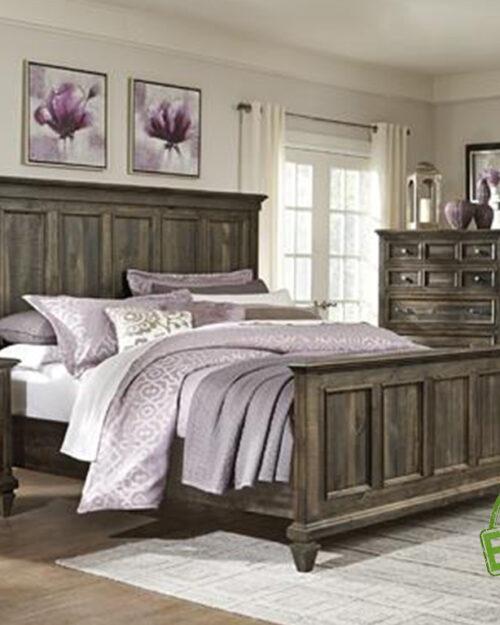 Кровать из массива натурального дерева Кинг