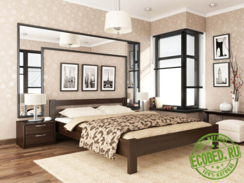 Кровать из массива натурального дерева Линия