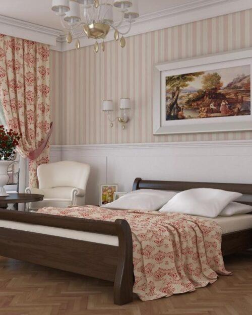 Кровать из массива натурального дерева Петроградская