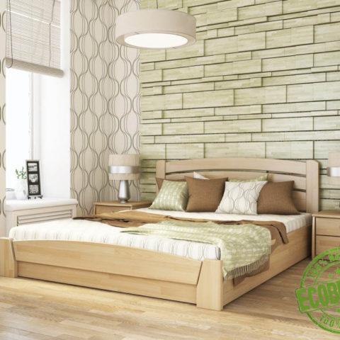"""Кровать из массива натурального дерева """"Селена Аура"""""""