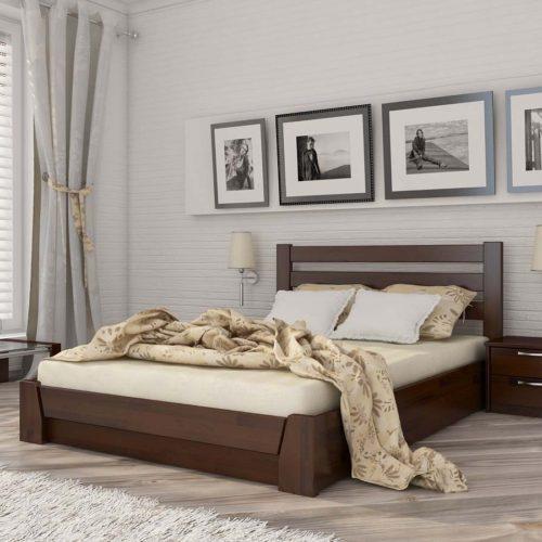 Кровать из массива натурального дерева Селена