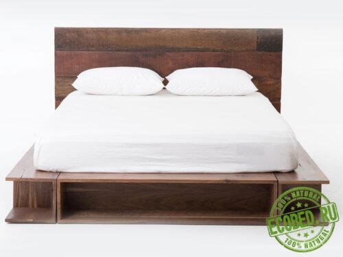 """Кровать из массива натурального дерева """"Шато"""""""