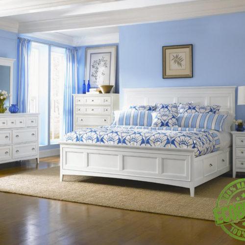 Кровать из массива натурального дерева Королевская