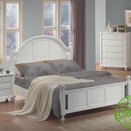 Кровать из массива натурального дерева Латте