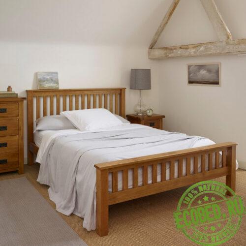 """Кровать из массива натурального дерева """"Селла"""""""