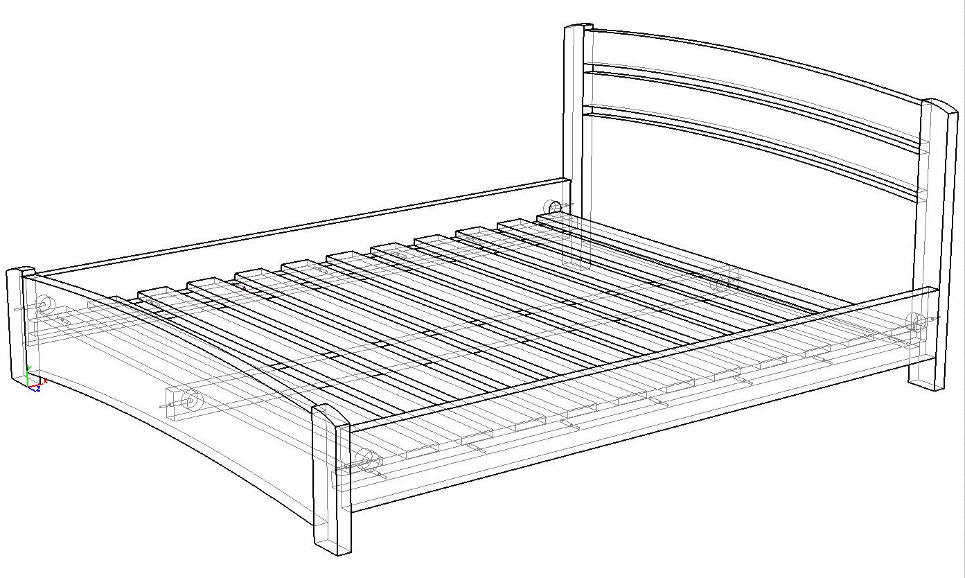 Кровать из массива натурального дерева Венеция Люкс