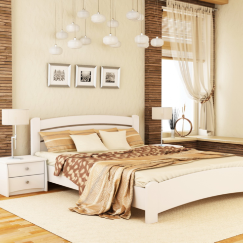 """Кровать из массива натурального дерева """"Венеция Люкс"""""""
