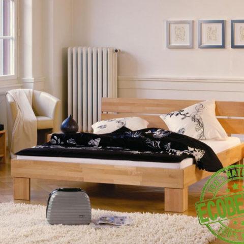 Кровать из массива натурального дерева Квадро