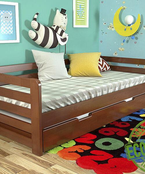 """Кровать из массива натурального дерева """"Немо"""""""