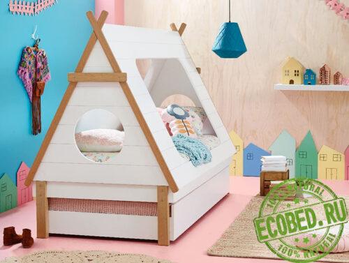Кровать из массива натурального дерева Апачи