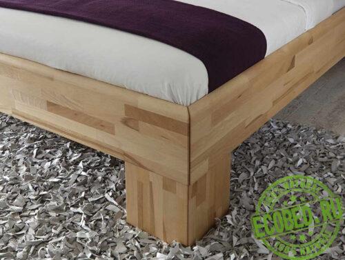 Кровать из массива натурального дерева Авангард 2