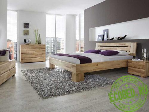Кровать из массива натурального дерева Авангард