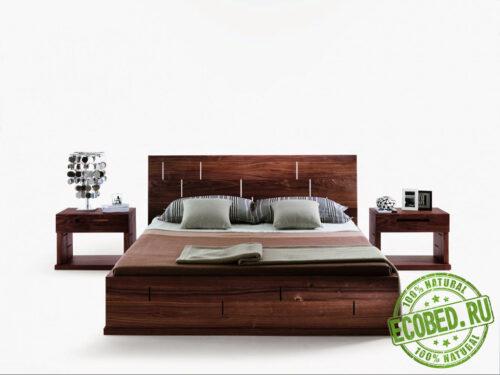 Кровать из массива натурального дерева Вера 3