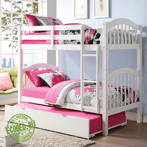 """Кровать из массива натурального дерева """"Элиза"""""""