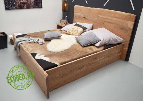 Кровать из массива натурального дерева Лайт