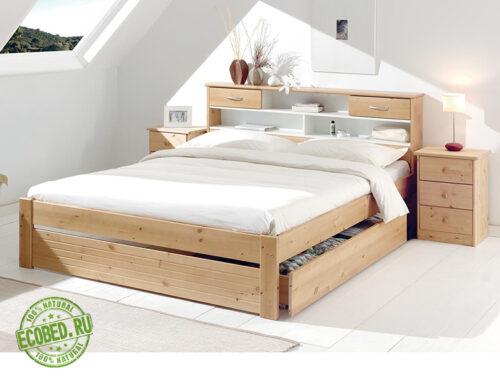 Кровать из массива натурального дерева Тино