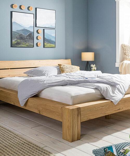 Кровать из массива натурального дуба Стокгольм