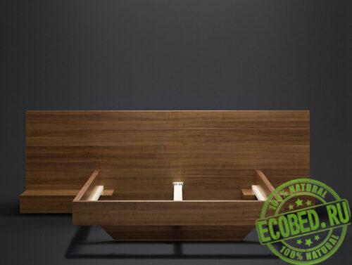 Кровать из массива натурального дерева Брикс